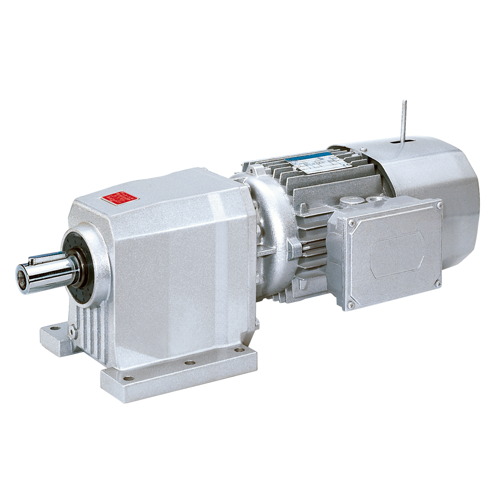 Bonfiglioli Riduttori helical gearboxes C-series version M with integrated three-phase motor with brake color aluminum