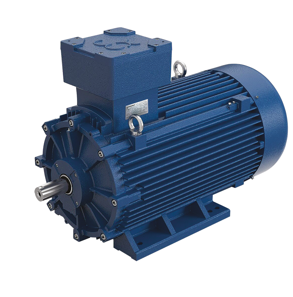 Elprom explosion-proof flameproof ATEX three-phase motor AS-series design B3 color blue