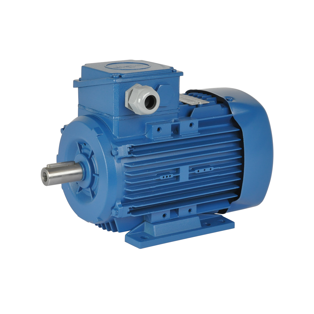 ELSTO aluminum three-phase motor DEE-series mounting B3 model E3T color blue